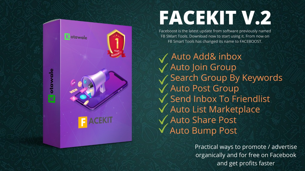 FACEKIT FACEBOOK GROUP POSTER
